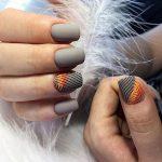 Серый гель лак маникюр – Модные дизайны ногтей в сером цвете. Фото новинки 2020 гель-лаком, френч, с блестками, втиркой, рисунком